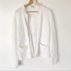 J McLaughlin Eyelash Fringe Sweater Cardigan Small